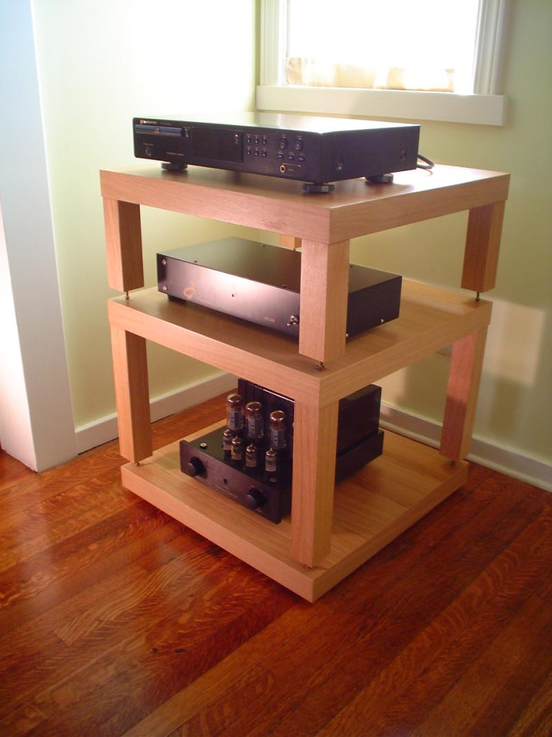 DIY- Ikea Lack Table Audio Rack