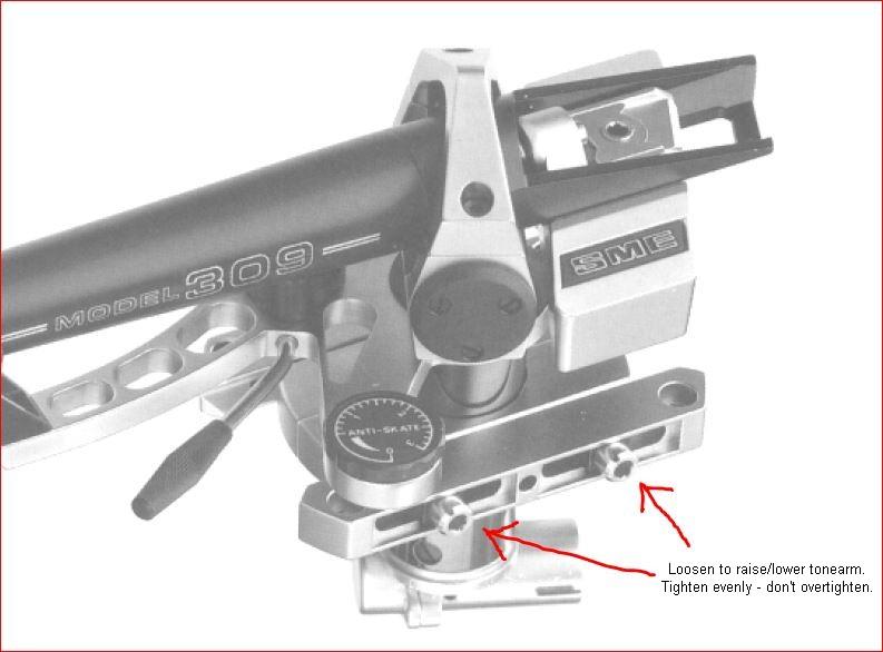 how do you set VTA onthe SME 309 tonearm? | Audiogon